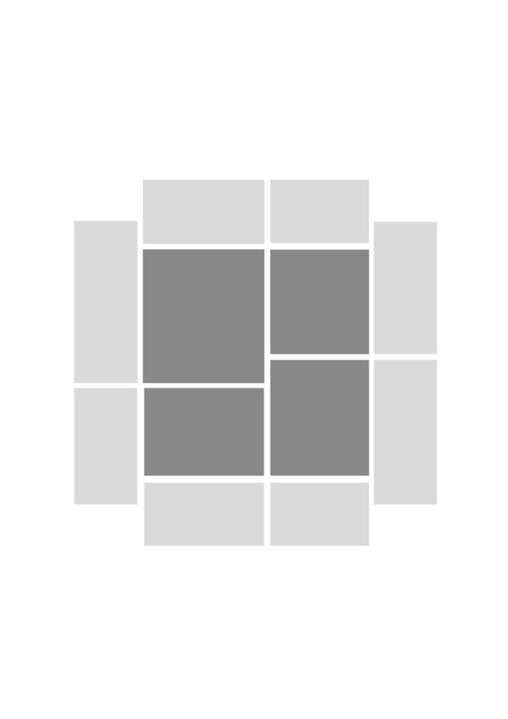 grid based on glass in lead artwork