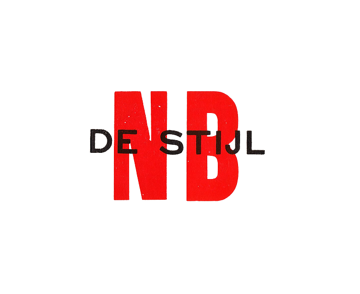 original nb (nieuwsblad) de stijl logo 1917